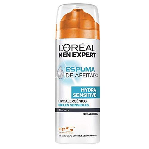L'Oréal Paris Men Expert Hydra Sensitive Espuma de Afeitar para Pieles Sensibles - 200 ml