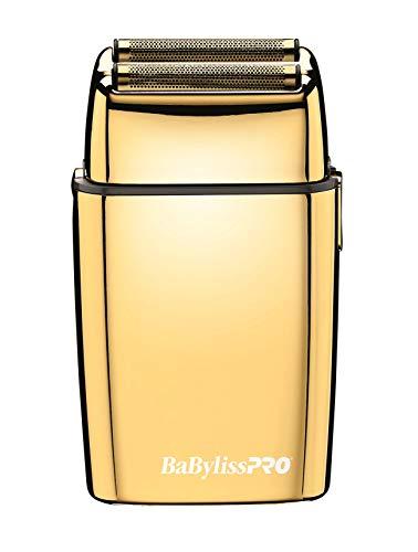 BaBylissPRO FXFS2G FOILFX02 - Maquinilla de afeitar inalámbrica de metal con lámina dorada