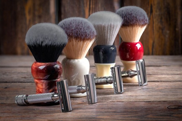 tipos de brochas de afeitar